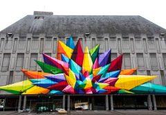 okuda art mural in europe
