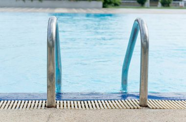 outdoor pool close up